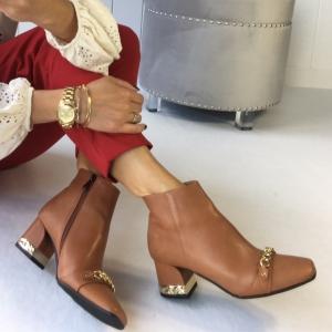POLSKIE BOTKI Calzado Queen SKÓRA ŁAŃCUCH Noelia CAMEL LOVE