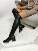 Italian Fashion BOCCATO KOZAKI ZA KOLANO SKÓRA 210.760 CZARNE LOVE
